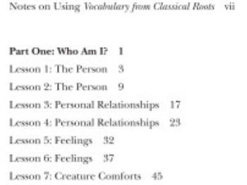 Vocabulary From Classical Roots C, Student Book