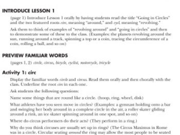 Vocabulary From Classical Roots 5, Teacher's Guide
