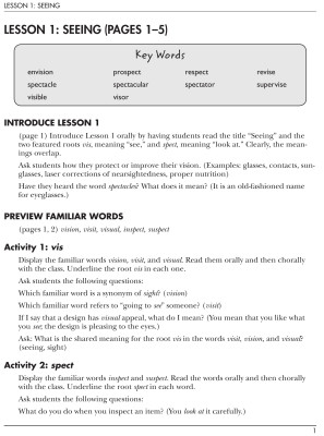 Vocabulary From Classical Roots 6, Teacher's Guide